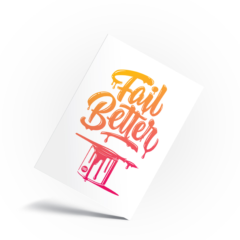 Fail Better Gradient Red Orange